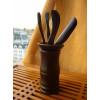 Малый набор инструментов для чаепития / тёмный, прямой