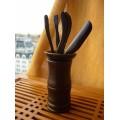 Купить Малый набор инструментов для чаепития / тёмный, прямой