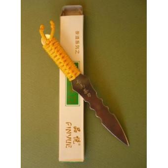 Железный нож для пуэра с верёвочкой