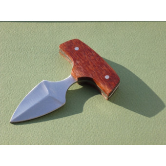 Нож для пуэра с поперечной рукояткой, в кобуре