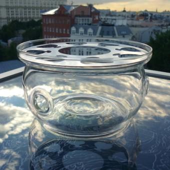 Купить Большая стеклянная подставка для свечи, под чайник