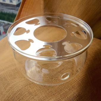 Большая стеклянная подставка для свечи, под чайник