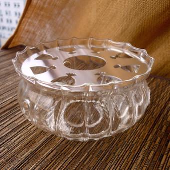 Купить Стеклянная подставка-подогрев под чайник, волнистая
