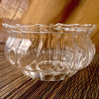 Стеклянная подставка-подогрев под чайник, волнистая