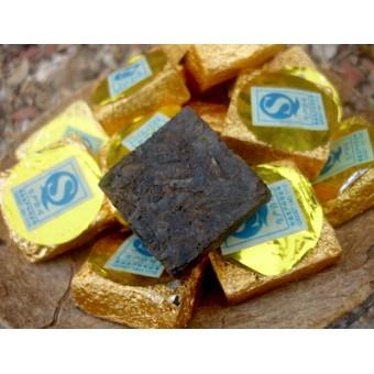 Мини шу (чёрный) пуэр «Золотой квадрат»