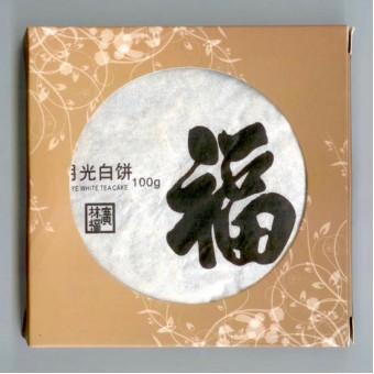 Купить Прессованный белый чай Юэ Гуан Бай «Белизна Лунного Света» мини-блин 100г.
