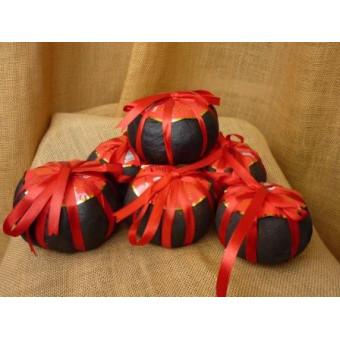 Черный шу пуэр закопчёный в грейпфруте весом 265г.