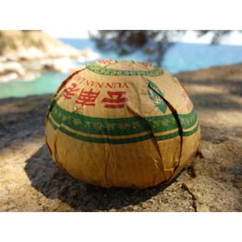 Зеленый шен пуэр «Lao Cang» гнездо 100г.