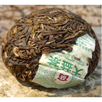 Зелёный шен пуэр «V93» гнездо 100г. (Мэнхайский чайный завод)