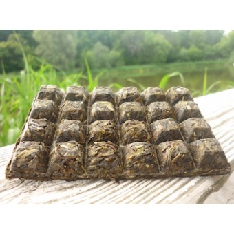 Зеленый шен пуэр в форме шоколадной плитки «Ча Чжуань Цзинлун»