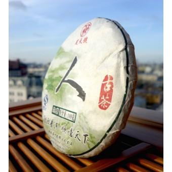 Зеленый Шен пуэр Менгванг «Человек» мини-блин 100гр. 2010г.