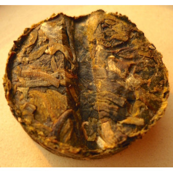 Купить Зеленый мини-шен пуэр «Золотой медальон» с рисовой травой 150г.