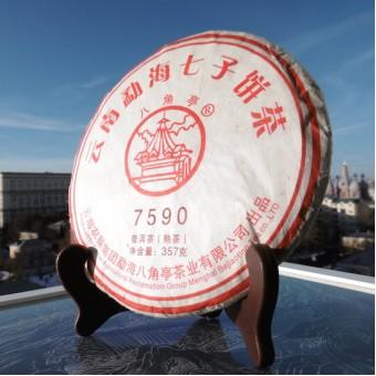 Шу пуэр Лиминь Ба Цзяо Тин «7590» блин 357г.