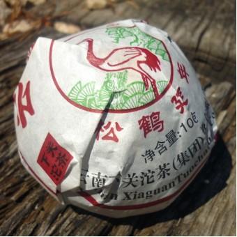 Чёрный шу пуэр Сягуань «The Yunnan Tuocha» гнездо 100г. в коробочке