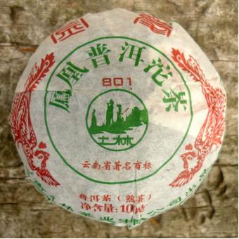 Купить Органический шу пуэр Тулинь «Фэнхуан Точа 801» гнездо 100г.