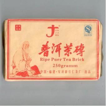 Купить Чёрный шу пуэр «Ча Чжуань Синьцзяжень» кирпич 250гр.