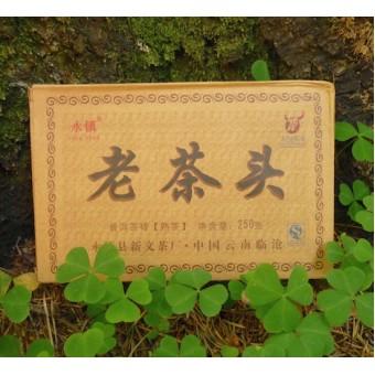 Купить Выдержанный черный Шу пуэр Yong Zhen Lao Cha кирпич 250г.