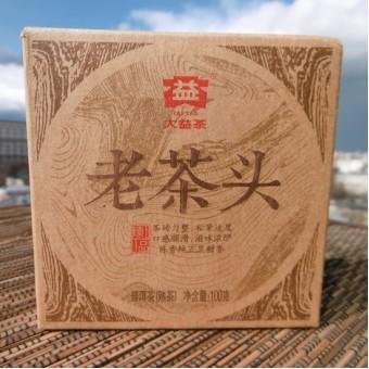 Купить Чёрный шу пуэр ДаИ Лао Ча Тоу «Старые Чайные Головы» плитка 100гр. 2014г.