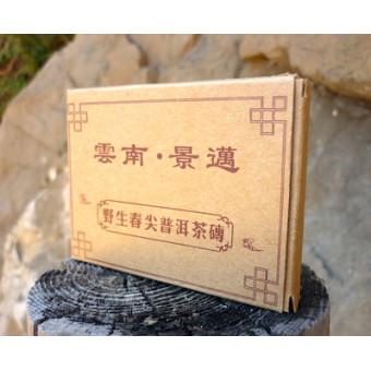 Купить Плитка черного шу пуэра Meng Tong «Старый друг» в коробочке 50г.