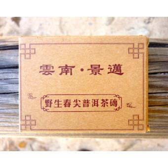 Плитка черного шу пуэра Meng Tong «Старый друг» в коробочке 50г.