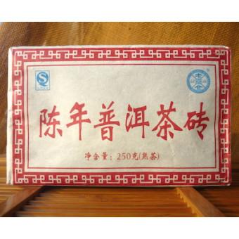 Купить Выдержанный черный Шу пуэр Lao Cang кирпич 250г.