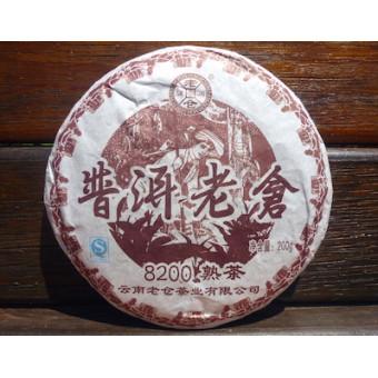 Купить Черный Шу пуэр Lao Cang 8200 мини-блин 200г.