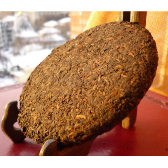 Органический черный Шу пуэр Бан Жан мини-блин 100г.
