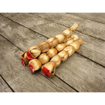 Копчёный чай с добавлением солодки, в бамбуковом листе