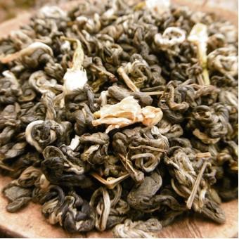 Купить Зелёный жасминовый чай Моли Би Ло Чунь «Жасминовые спирали весны»