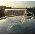 Стеклянная чашка с двойными стенками 150мл.