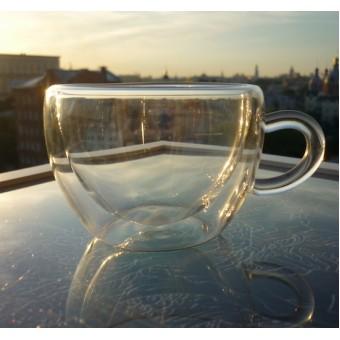 Купить Стеклянная чашка с двойными стенками 150мл.