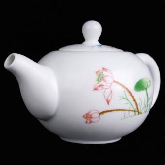 Купить Фарфоровый заварочный чайничек «Рыбки и лотос»