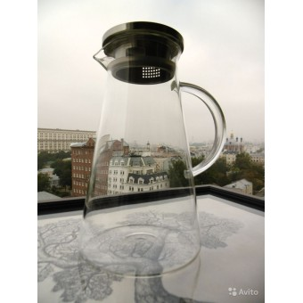 """Стеклянный термостойкий чайник """"Конус"""" 1600мл"""