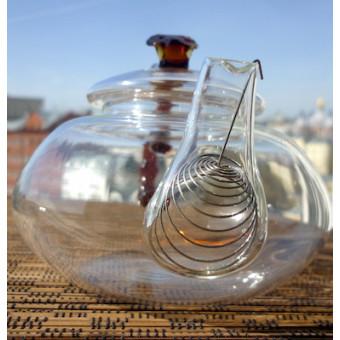Чайник «Красный бамбук» из термостойкого стекла 450мл.