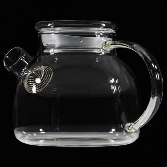 Небьющийся термостойкий стеклянный чайник 1000мл.