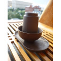 Купить Неглазурированная глиняная Гун Фу Ча пара на подставке