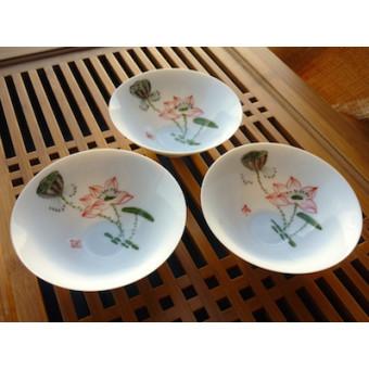Пиала Пин Мин Бэй «Цветение лотоса» ручная роспись