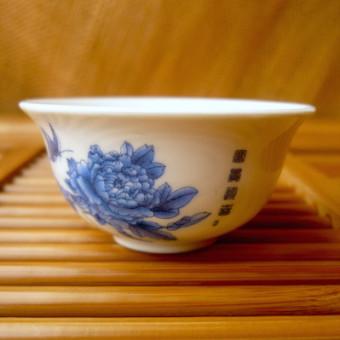 Купить Маленькая фарфоровая пиала «Голубой цветок» 30 мл.