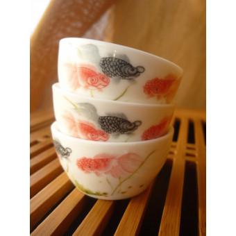 Маленькие фарфоровые пиалы «Рыбки»