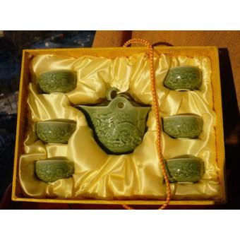 Сервиз керамический с драконами