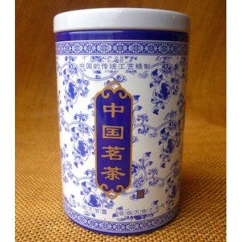 Купить Металлическая баночка бело-голубая под 100г. чая
