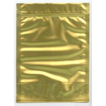 Купить Фасовочный золотой пакетик на застёжке зиплок 200-300г